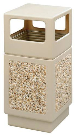 Aggregate Panel Outdoor Plastic Receptacle, Side Opening, 38 Gal. Capacity