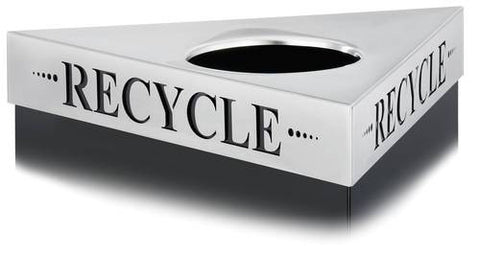 Trifecta® Receptacle Lid, Recycle Inscription