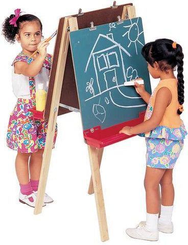 Double Adjustable Chalkboard Easel