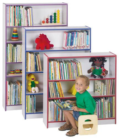 Models shown (front to back): 34798 (2 Shelf Bookcase); 34800 (3 Shelf Bookcase) and 34802 (4 Shelf Bookcase).