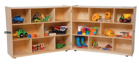 "Fold 'N Lock Storage Center, 96"" W x 15"" D x 36"" H with 16 Openings"