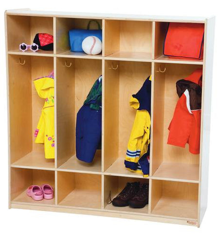 "Four Section Locker, 48"" W"