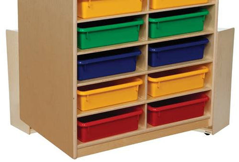 Letter Tray Storage Unit, 12 Assorted Color Trays