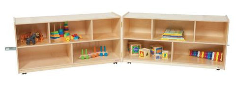 "Fold 'N Lock Storage Center, 96"" W x 15"" D x 24"" H with 10 Openings"