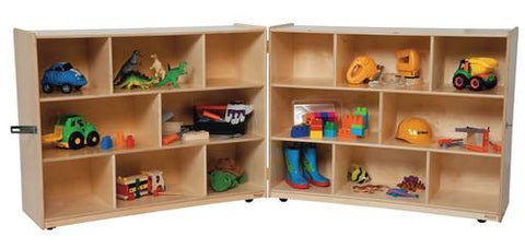 "Fold 'N Lock Storage Center, 96"" W x 18"" D x 36"" H with 16 Openings"