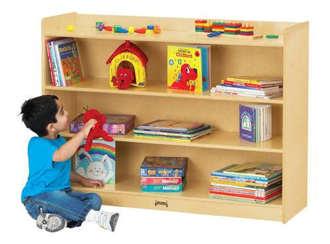 Mobile Bookcase with Lip, Baltic Birch Finish