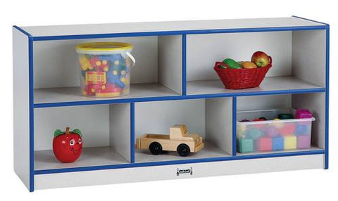 "Rainbow Accents® Mobile Single Storage Unit, 24-1/2"" H, 5 Openings"