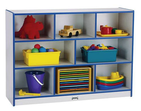 "Rainbow Accents® Mobile Single Storage Unit, 35-1/2"" H, 8 Openings"