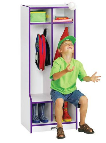 Rainbow Accents® 2-Section Coat Locker with Seat