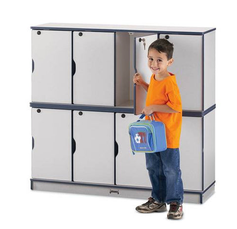 Rainbow Accents® Stacking Lockable Locker, Double Stack