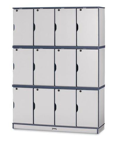 Rainbow Accents® Stacking Lockable Locker, Triple Stack