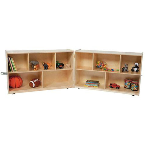 "Fold 'N Lock Storage Center, 96"" W x 15"" D x 30"" H with 10 Openings"