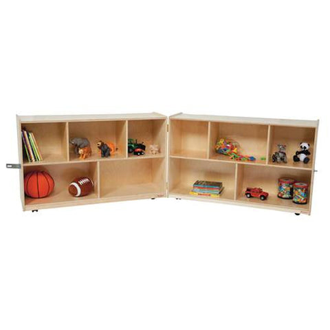"Fold 'N Lock Storage Center, 96"" W x 18"" D x 30"" H with 10 Openings"