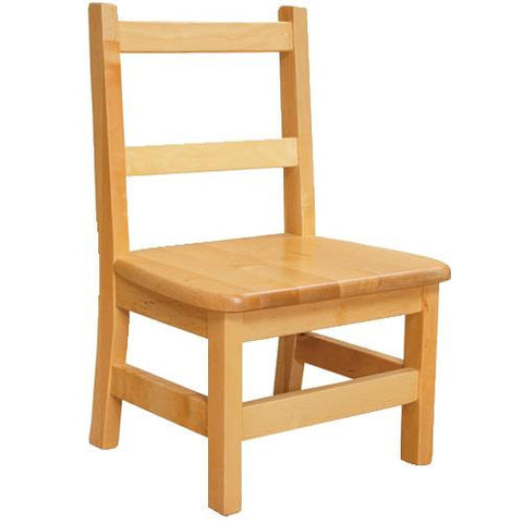 Solid Birch Hardwood Chair, Seat Ht. 8""