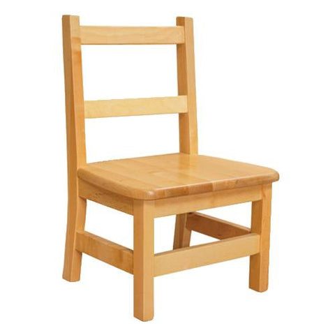 Solid Birch Hardwood Chair, Seat Ht. 10""