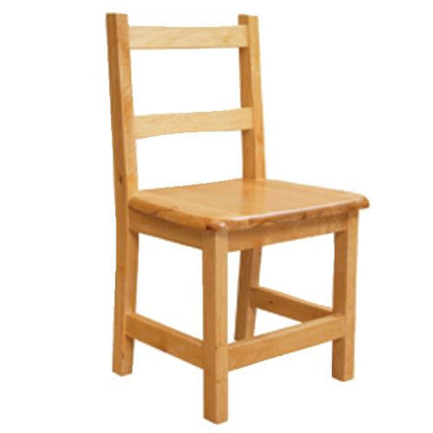 Solid Birch Hardwood Chair, Seat Ht. 11""