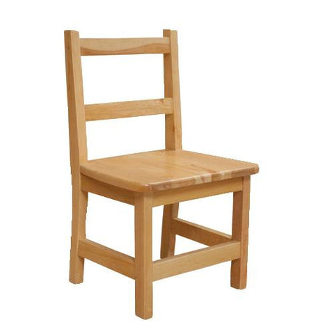Solid Birch Hardwood Chair, Seat Ht. 12""