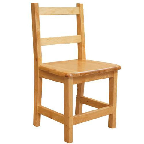 Solid Birch Hardwood Chair, Seat Ht. 13""