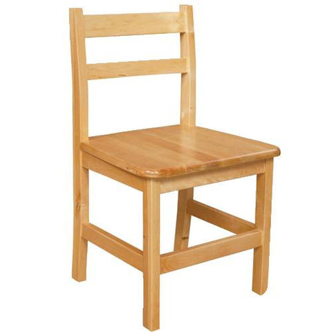 Solid Birch Hardwood Chair, Seat Ht. 15""