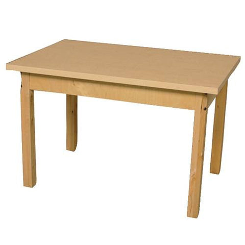 "Wood Table with High-Pressure Laminate Top, 24"" x 36"" Rect., Fixed Height Legs"