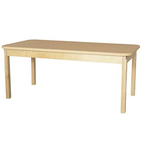 "Wood Table with High-Pressure Laminate Top, 30"" x 60"" Rect., Fixed Height Legs"