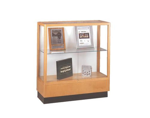 "Heritage Series Hardwood Display Case, 36"" W x 14"" D x 40"" H"