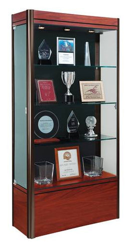 "Contempo Series Display Case, 36"" W x 14"" D x 72"" H"