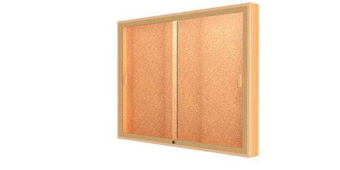 "Legacy Wall-Mounted Display Cabinet with Cork Back, 48"" W x 36"" H"