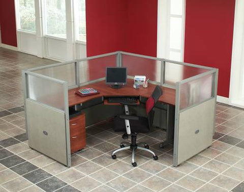"Rize One 72"" Workstation, Vinyl/Polycarbonate Panel, 47"" H"