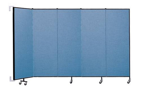 "Screenflex Wall-Mounted Partition, 5 Panels, 9' 2"" L x 6' H"