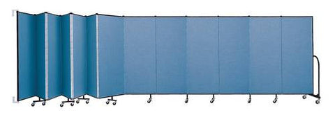 "Screenflex Wall-Mounted Partition, 13 Panels, 23' 10"" L x 6' H"