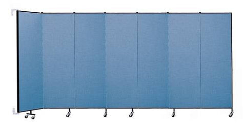 "Screenflex Wall-Mounted Partition, 7 Panels, 12' 10"" L x 6' 8 H"