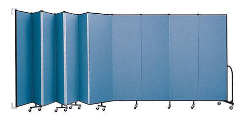 "Screenflex Wall-Mounted Partition, 11 Panels, 20' 2"" L x 6' 8"" H"