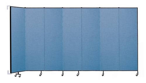 "Screenflex Wall-Mounted Partition, 7 Panels, 12' 10"" L x 7' 4 H"