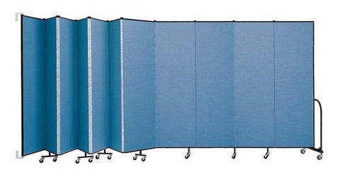 "Screenflex Wall-Mounted Partition, 11 Panels, 20' 2"" L x 7' 4"" H"
