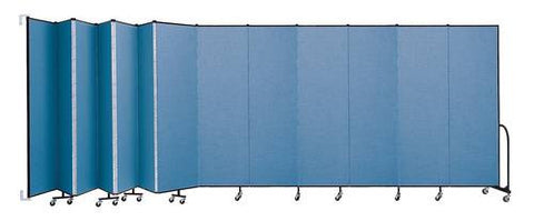 "Screenflex Wall-Mounted Partition, 13 Panels, 23' 10"" L x 7' 4"" H"