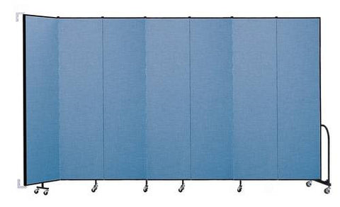 "Screenflex Wall-Mounted Partition, 7 Panels, 12' 10"" L x 8' H"