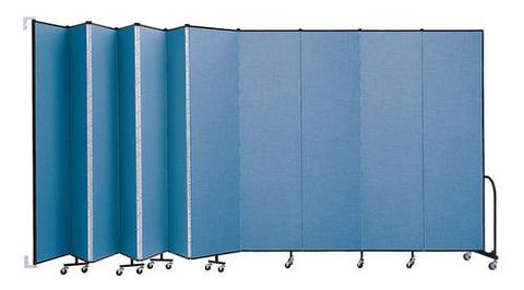 "Screenflex Wall-Mounted Partition, 11 Panels, 20' 2"" L x 8' H"