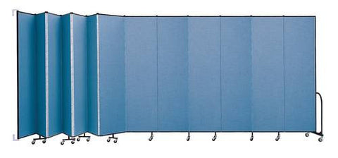 "Screenflex Wall-Mounted Partition, 13 Panels, 23' 10"" L x 8' H"