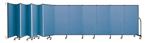 "Screenflex Wall-Mounted Partition, 13 Panels, 23' 10"" L x 5' H"