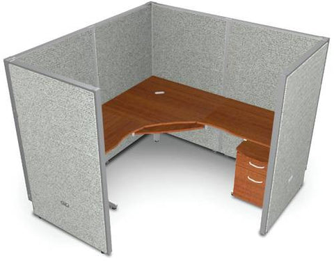"Rize One 72"" Workstation, Vinyl Panel, 63"" H"