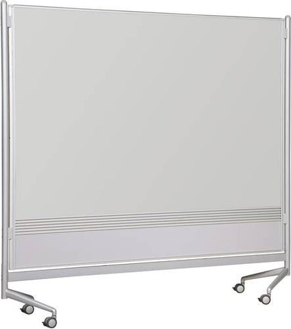 D.O.C. Double-Sided Board, 6' H x 4' W, Evolution Projection Markerboard Surface on Both Sides