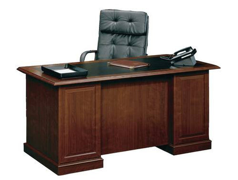 Heritage Series Executive Desk with Black Inlaid Top