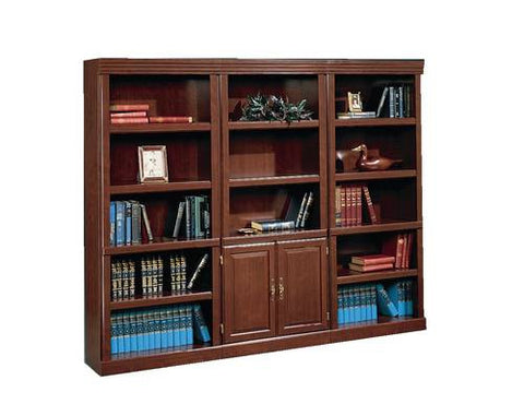 Models shown (left to right):36762 (Open Bookcase),  36766 (Bookcase with Doors) and 36762 (Open Bookcase).