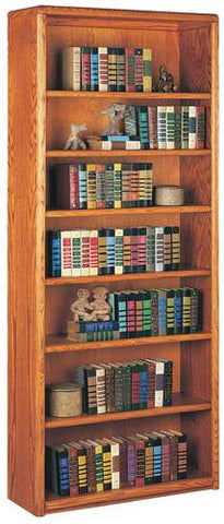 Handcrafted Genuine Oak 7-Shelf Bookcase