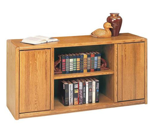 Hand Crafted Genuine Oak Wood Storage Credenza