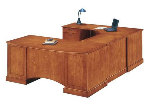 "Belmont Series Bowfront Executive Corner U-Shaped Desk, 72"" W x 110"" D"