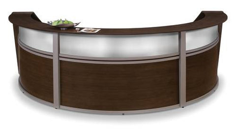 Marque Series Laminate/Poly Three-Piece Reception Station