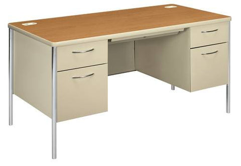 "Mentor®, Series Teacher's Double Pedestal Desk, 60"" x 30"""