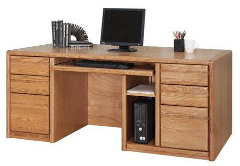 Hand Crafted Genuine Oak Executive Computer Desk
